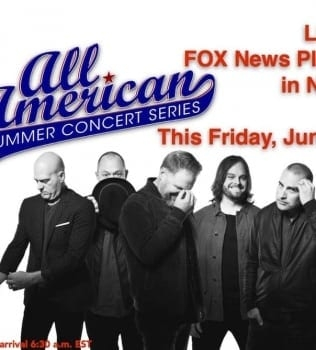 MercyMe To Perform On FOX & Friends' All-American Summer Concert Series This Friday
